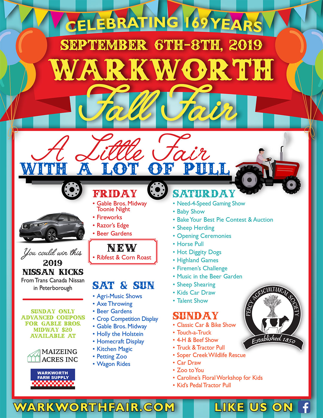 2019 Warkworth Fall Fair, Sept 6 to 8, 2019, A Little Fair with a Lot of Pull