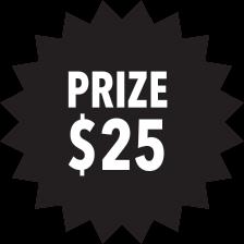 Prize $25